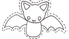 Plantilla para hacer un murciélago gracioso de fieltro                                                                                                                                                                                 Más