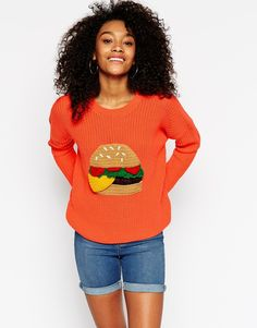Just your casual crochet burger sweater.