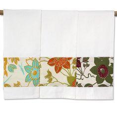 Set of 3 - Passion Flower Tea Towels