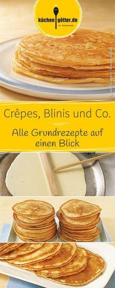 Pfannkuchen, Crêpes, Pancakes und Co.: Wir haben alle Grundrezepte auf einem Blick für euch!