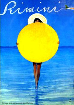 Rich summer colors of the original vintage poster, RIMINI ON BLUE GROUND by GRUAU. Check out more details on our website: http://www.postergroup.com/details.asp?posterid=4586