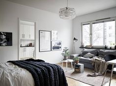 Simple decor - studio apartment. Are you looking for unique and beautiful art photo prints to create a gallery wall for your compact dwell... Visit bx3foto.etsy.com