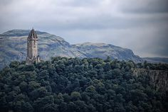 The National William Wallace Monument - on Abbey Craig, near Stirling in Scotland