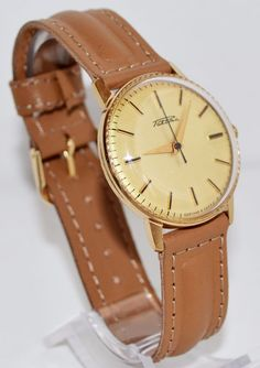 Men`s Watch Vintage Gold-plated RAKETA 1970s Collectibles Soviet Luxury watch #Raketa #LuxuryDressStyles #Raketa #Satin #Raketa #watch #vintage #gold #wristwatch #giftsforhim #fathersday