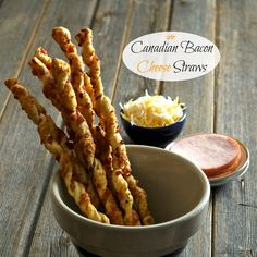 "Canadian Bacon Cheese Straws-easy to make, elegant and delicious -the first appetizer to disappear at any dinner party. A great ""bread"" with a salad."