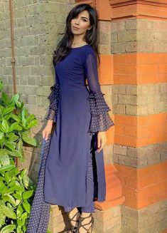 ✔For Inquiry or Order : Click the scrsnshot and then DM us or whatsap on by Kurti Designs Party Wear, Lehenga Designs, Saree Blouse Designs, Indian Designer Outfits, Designer Dresses, Designer Wear, Indian Dresses, Indian Outfits, Western Outfits