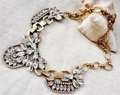 AM Dolce Vita, J.Crew Crystal Cluster Necklace, Vintage Bib Choker Crystal Statement Necklace