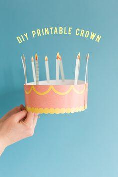 diy birthday crown DIY printable birthday crown - The House That Lars Built Diy Birthday Crown, Bff Birthday Gift, Birthday Wishes, Birthday Parties, Birthday Crowns, Birthday Ideas, Happy Birthday, Birthday Cake, Crown Printable