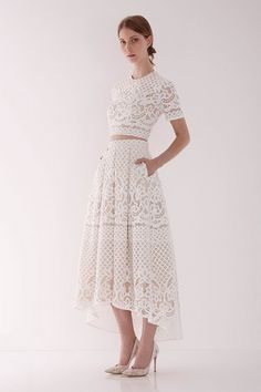 Lover Libra Crop Top + Matching Midi Skirt (price NA) Bohemian Wedding Dress