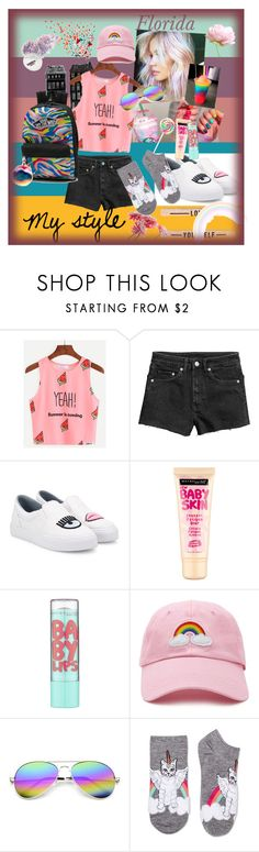 """Cool"" by floridanuha ❤ liked on Polyvore featuring Chiara Ferragni, Fendi, Maybelline, Forever 21, ZeroUV and Xhilaration"