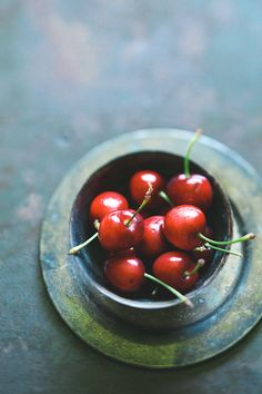 cherries and patina, soft directional light