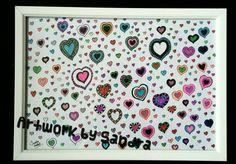 Hearts illustration - Original & prints for sale Art Paintings For Sale, Heart Illustration, Prints For Sale, Calendar, Hearts, Holiday Decor, Home Decor, Room Decor, Home Interior Design