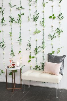 Flower wall backdrop idea