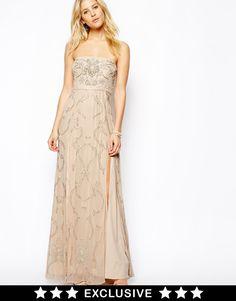 Needle & Thread   Needle & Thread Ornate Prom Maxi Dress at ASOS