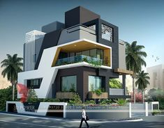 Contemporary Home Design modern contemporary house.Contemporary Architecture In Historic. Bungalow Exterior, Bungalow House Design, House Front Design, Modern Bungalow, Modern House Design, Bungalow Designs, Ultra Modern Homes, Modern Contemporary Homes, Contemporary Stairs