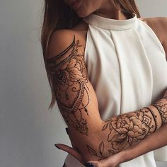 awesome Friend Tattoos - Cute henna lace arm tattoo ideas you should try 02 Trendy Tattoos, Sexy Tattoos, Unique Tattoos, Beautiful Tattoos, Body Art Tattoos, Girl Tattoos, Tattoos For Guys, Memory Tattoos, Tatoos