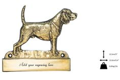 Beagle, dog plaque, can be engraved, limited edition, ArtDog Beagle Dog, Lion Sculpture, Statue, Canning, Dogs, Etsy, Collection, Art, Sculptures