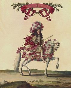 Philippe de France, Monsieur, duc d'Orleans (1640-1701) on horseback at the great Carrousel of 6 June 1662, celebrating the birth of the Dauphin, French school