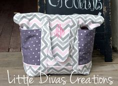 Handmade Weekender Tote weekender weekender tote bag handmade bag diaper bag baby girl diaper bag pink and grey pink chevron chevron bag custom bag weekender tote over night bag personalized bag online boutique 90.00 USD #goriani