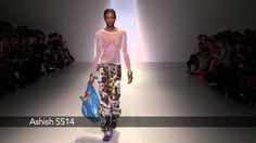 Watch the Ashish catwalk show for spring/summer 2014 at London Fashion Week