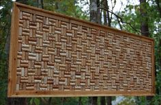 Large Recycled Wine Cork Board...Wedding Decor...Office Decor...Beautiful behind a bar or in a wine cellar too!