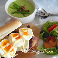 Egg, Bacon, Ham  Cheese Sandwich
