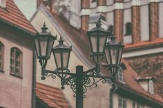 Street lamp in Old Riga by VictorGrow on @creativemarket