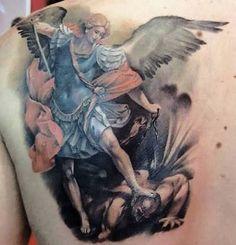 Resultado de imagem para angel vs demon tattoo
