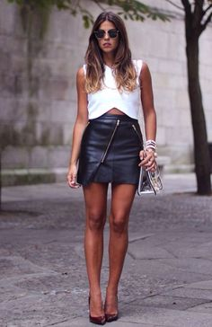 Leather skirt♠️