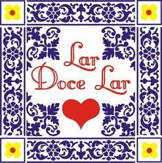 ADESIVO DECORATIVO LAR DOCE LAR