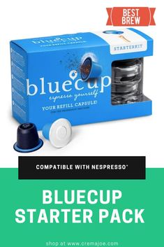 Made in the Netherlands, Bluecup is a revolutionary, reusable coffee pod, offering you an eco-friendly way to prepare and brew the perfect blend with your Nespresso®* machine.Eco-friendlySingle-use plastic is harmful to. Nespresso Machine, Coffee Lover Gifts, Coffee Lovers, Brew Your Own, Cappuccino Machine, Italian Coffee, Blended Coffee, Eco Friendly House, Dolce Gusto