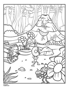 printable coloring book d bug food bugs coloring - Ant Coloring Page Black White