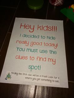 Just a little lagniappe elf on the shelf, scavenger hunt