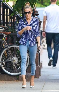 Sarah Jessica Parker Capri Jeans - SJP kept it casual and cool with a pair of…
