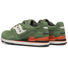 Green Courageous Premium Sneakers by Saucony