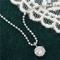 PT0.3ct ダイヤモンドペンダント - 拡大画像 Pearl Necklace, Pearls, Silver, Jewelry, String Of Pearls, Jewlery, Beaded Necklace, Money, Bijoux