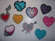 diy monster high room decor | Monster High Doll Wallpaper Art Sricker Mural Handmade Room Wall Decor ...