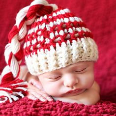 Photo Prop Newborn Elf Hat  In Red and by CynsationalTreasure, $12.50