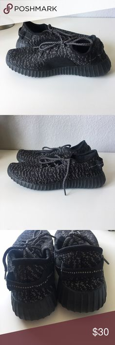 Yeezy Inspired Sneakers These are yeezy inspired sneakers, in excellent condition only worn twice,super comfortable. These are a size 5 1/2 but run small and would fit more of a 6 1/2  once again these are not adidas, they are a dupe.       🌈Open To Offers🌈 🚫Sorry, No Trades🚫 💰BUNDLE FOR DISCOUNTS💰 ⚡️Fast Shipping: same day or next morning depending on what time items are purchased⚡️ 💜please leave me a comment if you have any questions or would like me to stop by and check out your…