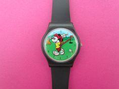 Original Disney Mickey Mouse Golf Themed Mens Boys Wrist Watch by Valdawn WORKS