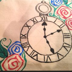 Late for a very important date! Wonderland inspired canvas tote, hand painted by Crystalized Ginger Designs:) Currently in production!