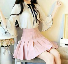 girly korean fashion schickes kleid The post Girly Korean Fashion Chic Dress Girly Korean Fashion Schickes Kleid appeared first on Lori& Decoration Lab. Teenager Fashion Trends, Korean Fashion Trends, Korean Street Fashion, Asian Fashion, Korean Fashion Pastel, Korea Fashion, Kpop Fashion, Girly Outfits, Pretty Outfits