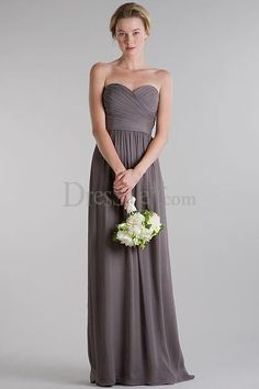 Strapless Bridesmaid Dress with Enticing Sweetheart Neckline