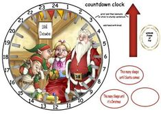 advent countdown clock 8 on Craftsuprint designed by Heather Howes - these are a quick easy advent sleeps until christmas clock ,just follow instructions on sheet there are a lot of different ones so the kids can have a choicei am also working on birthday/wedding countdown too - Now available for download!