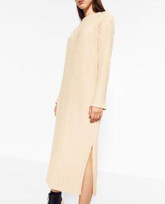 Image 2 of LONG RIBBED DRESS from Zara