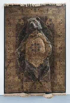 Life-Size Animals Emerge from Persian Rugs in Perception-Defying Sculptures by Debbie Lawson