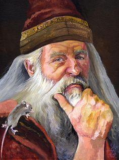 The Wise Wizard by artist J W Baker