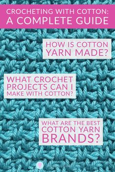 Do you crochet with cotton? Cotton yarn is great for crocheting clothes, homewares and many other projects.  Learn about the types of cotton (including mercerised, Egyptian and Pima) and why it's so popular in summer time. Discover where it's from,  how to choose the right cotton yarn for your project with yarn reviews included Cotton Plant, Paintbox Yarn, Yarn Brands, Love Craft, T Shirt Yarn, Double Knitting, Crochet Clothes, Infographics, Crochet Projects