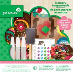 Who knew- Michael's carries girl scout craft kits and scrapbook stuff! Very cute!