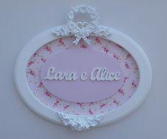 Porta Maternidade Provençal - Feito com muito carinho para as irmãs Lara e Alice.